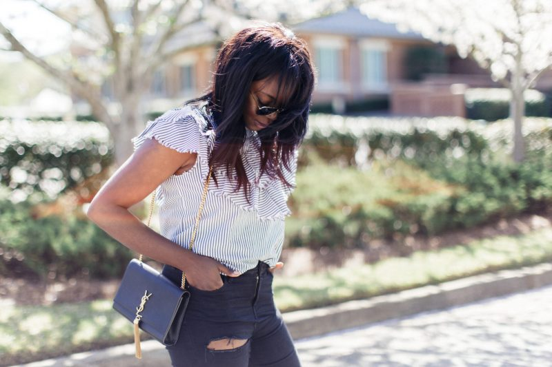 Button Down Shirt with Ruffles from ZARA | MILLENNIELLE